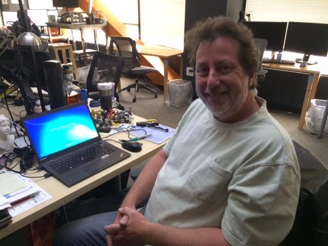 Jordan at his desk